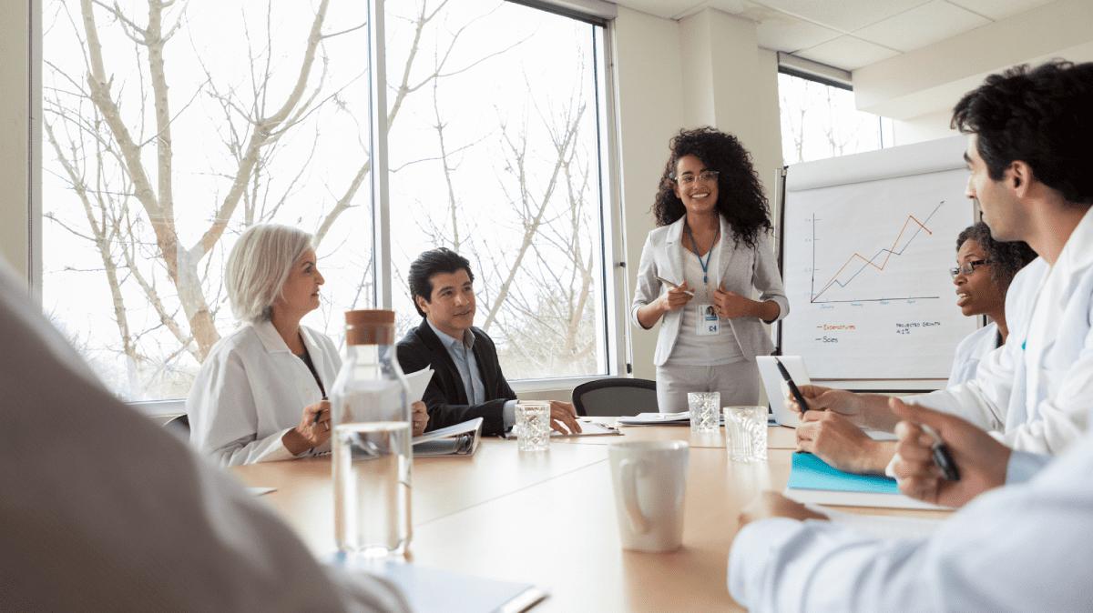 People Talking in a boardroom