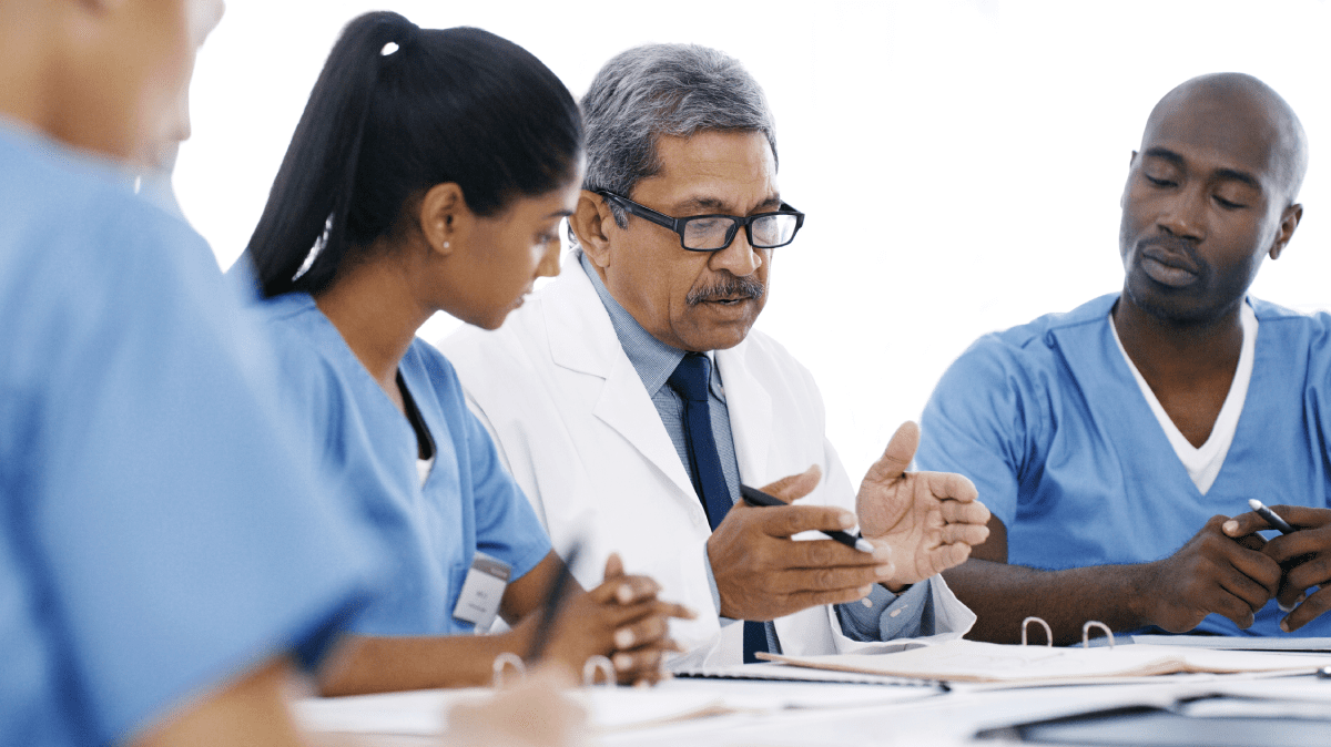 A hospital strategy session