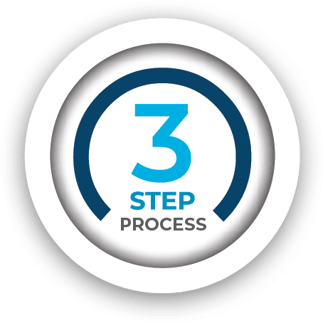 VIE Healthcare 3 Step Process Icon